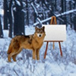 Still Life with Wolves and Canvases