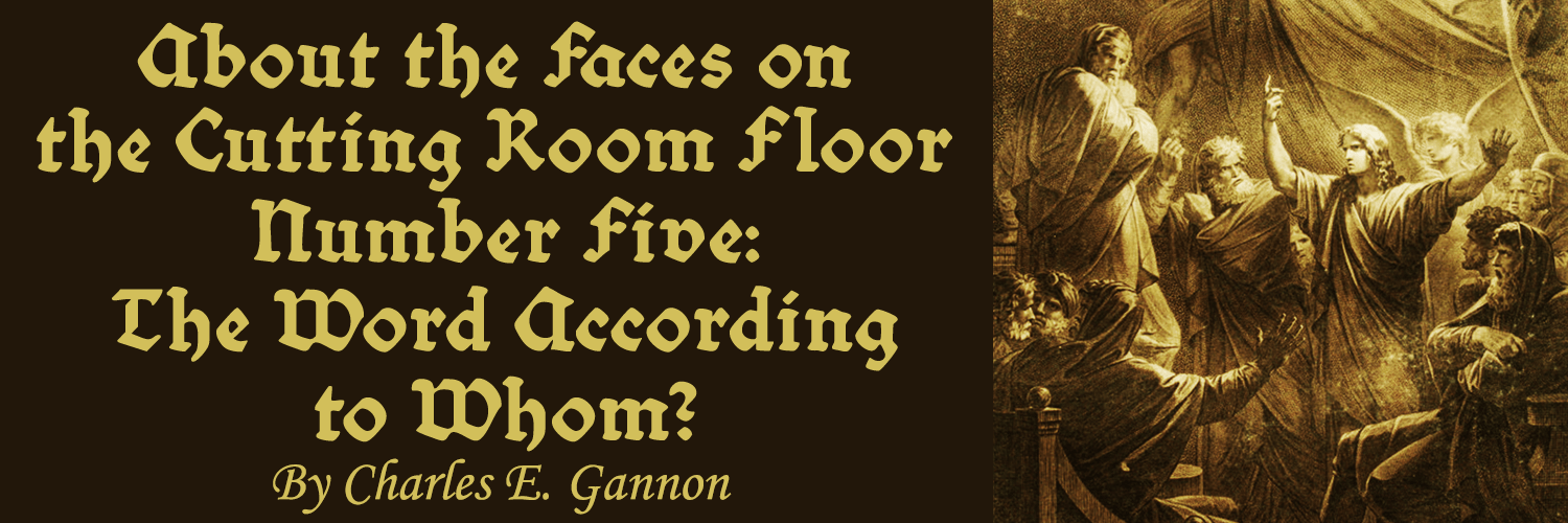 About the Faces on the Cutting Room Floor Number Five -banner